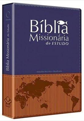 Biblia Missionaria de Estudo (Azul-Marrom)