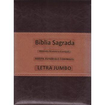 Bíblia Com Harpa e Ziper Marrom (Letra Jumbo)