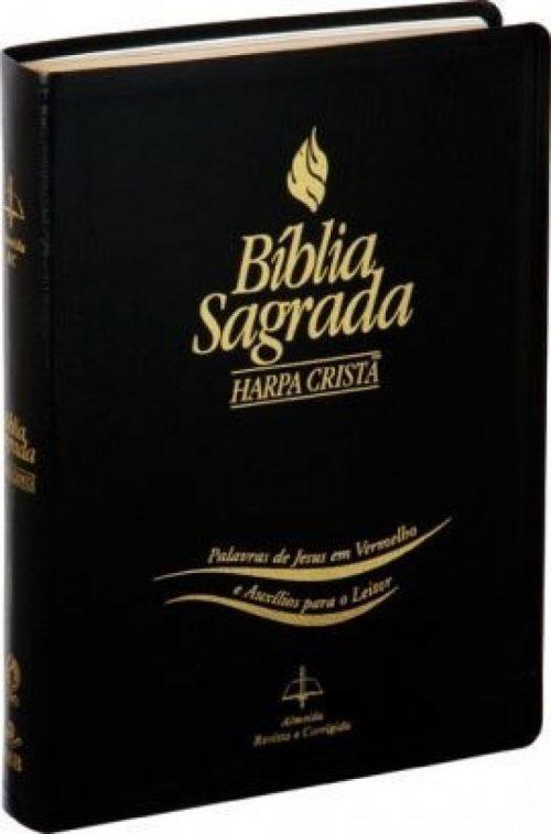 Biblia Letra Gigante Harpa Cristã (Preta)