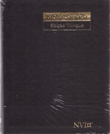 Bíblia Trilíngüe Pequena (Preta)