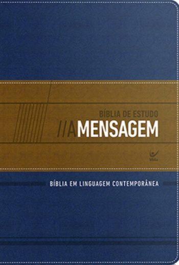 Bíblia de Estudo Mensagem (Azul & Bege)