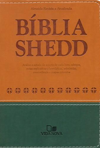 Bíblia Shedd Caramelo/Verde