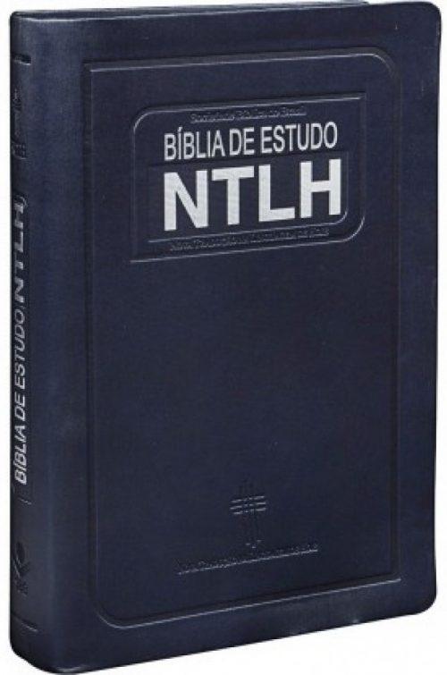 Biblia de Estudo NTLH Média Azul