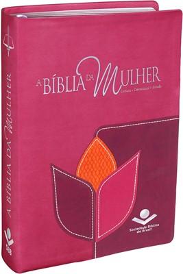 Bíblia de Estudo da Mulher Leitura Devocional RC - Luxo Flor Grande
