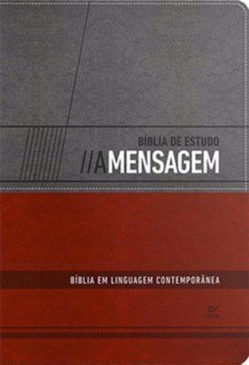 Bíblia - A Mensagem (Cinza/Vermelho)