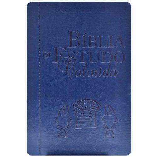 Biblia de Estudo Colorida Azul