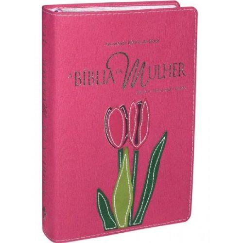 Biblia da Mulher Gr.Pink Tulipa